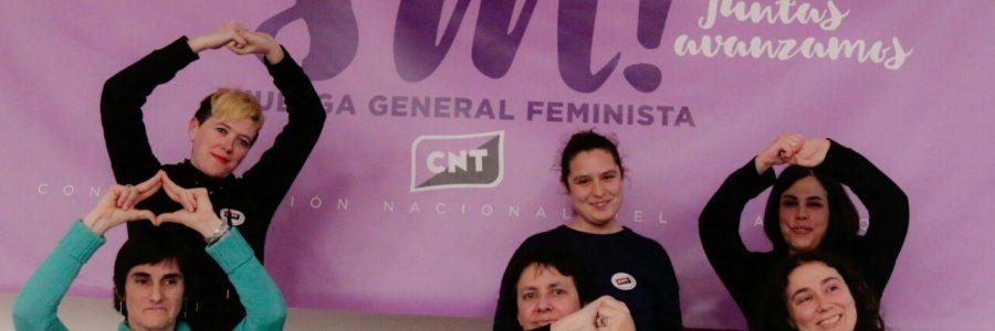 Primera valoración de CNT sobre el seguimiento de la jornada de huelga general feminista del 8M